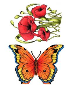 Crafter's Companion A6 Rubber Stamp - Butterfly Meadow