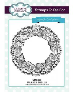 Stamps to Die For by Sue Wilson Pre-Cut Stamp - Millie's Shells
