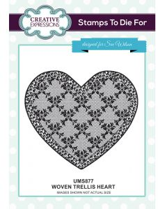 Sue Wilson Stamps to Die For - Woven Trellis Heart