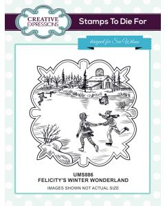 Creative Expressions Pre Cut Stamp - Felicitys's Winter Wonderland