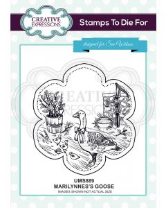 Creative Expressions Pre Cut Stamp - Marilynne's Goose