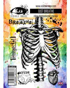 Visible Image Just Breathe Stamp Set