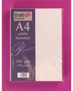 Craft UK A4 Hammer Card 100 sheets - White