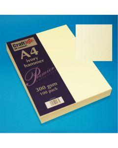 Craft UK A4 Hammer Card 100 sheets - Ivory