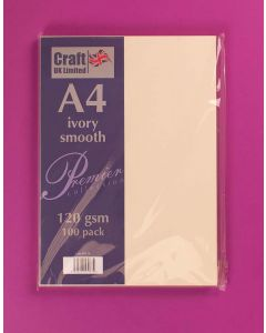 Craft UK A4 Smooth Paper 100 sheets - Ivory