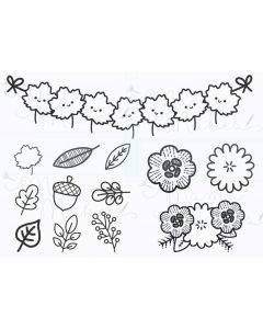 Mama Makes Clear Photopolymer Stamps - Fall Foliage