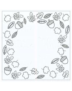Mama Makes Clear Photopolymer Stamps - Circle Centres Leafy Frame
