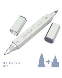 Illustrator by Spectrum Noir Single Pen - Ice Grey 5