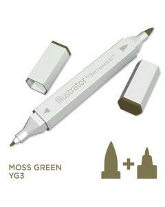 Illustrator by Spectrum Noir Single Pen - Moss Green