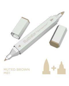 Illustrator by Spectrum Noir Single Pen - Muted Brown