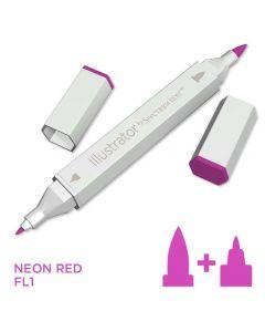 Illustrator by Spectrum Noir Single Pen - Neon Red