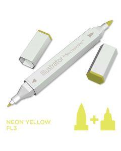Illustrator by Spectrum Noir Single Pen - Neon Yellow
