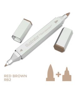 Illustrator by Spectrum Noir Single Pen - Red Brown