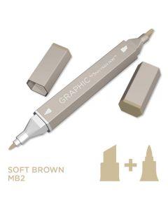 Graphic by Spectrum Noir Single Pens - Soft Brown