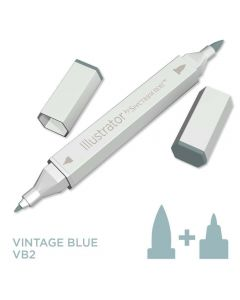 Illustrator by Spectrum Noir Single Pen - Vintage Blue