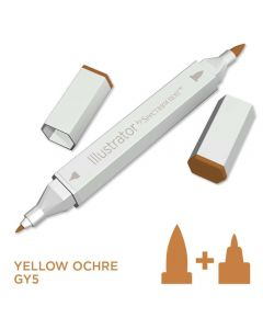Illustrator by Spectrum Noir Single Pen - Yellow Ochre