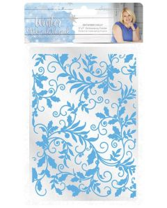 Sara Signature Winter Wonderland 5x7 Embossing Folder - Entwined Holly