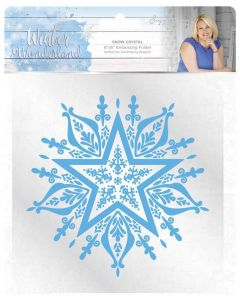 Sara Signature Winter Wonderland 6x6 Embossing Folder - Snow Crystal