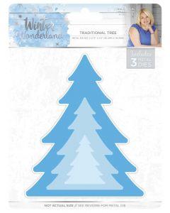 Sara Signature Winter Wonderland Metal Die - Traditional Tree