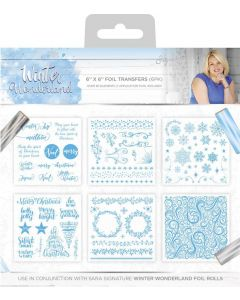 Sara Signature Winter Wonderland - Foil Transfers (6pk)