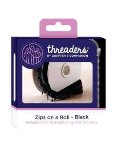 Threaders Zips on a Roll - Black