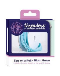 Threaders Zips on a Roll - Blush Green
