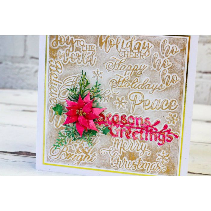 Christmas Expressions.Gemini Christmas Expressions Metal Die Festive Words 1